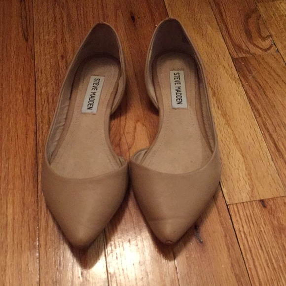 160fc167405 Steve Madden Elusion nude flats pointy toe 5